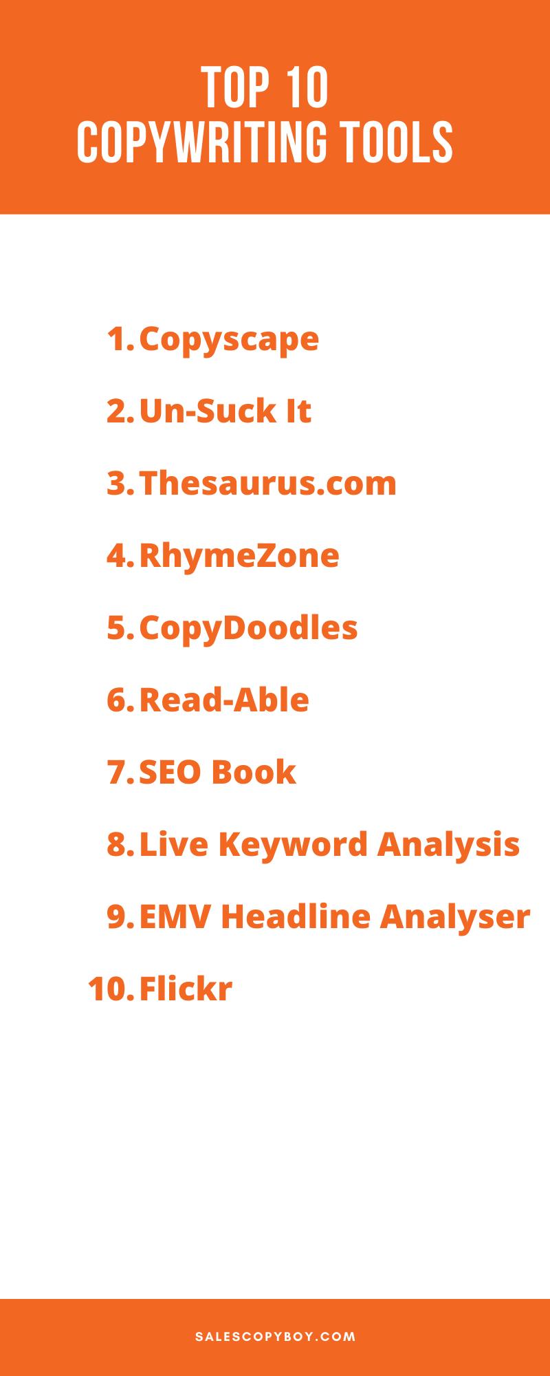 Top 10 Copywriting Tools