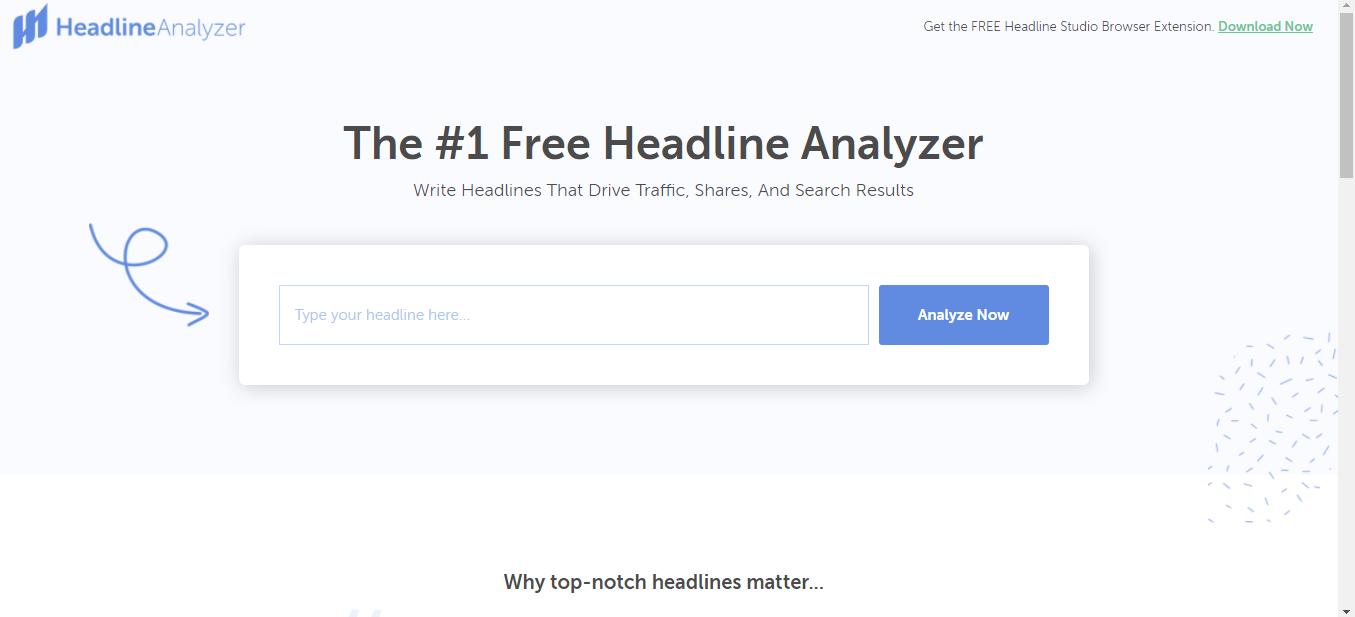 Headline Analyzer tool by Coschedule