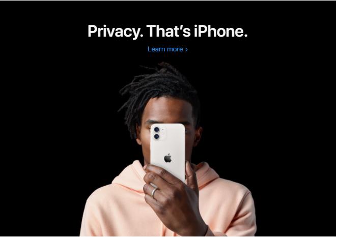 Apple's iPhone brand copy