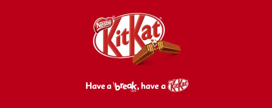 kitkat's brand copy with tagline